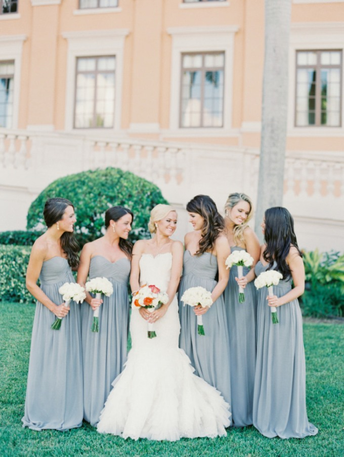 grey-floor-length-bridesmaid-dress