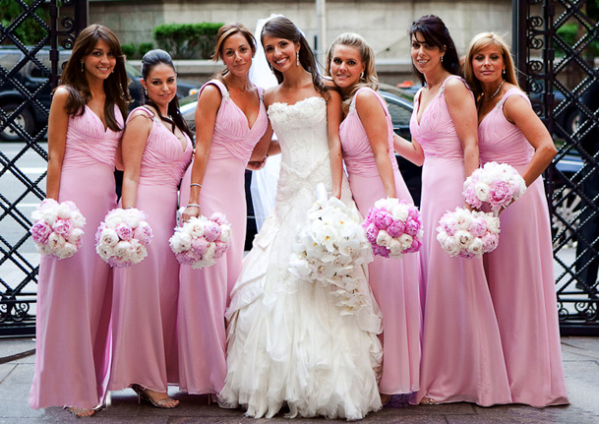 rose-pink-floor-length-chiffon-bridesmaid-dress1