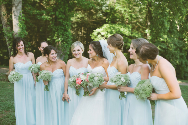 Southern-wedding-pale-blue-bridesmaid-dresses