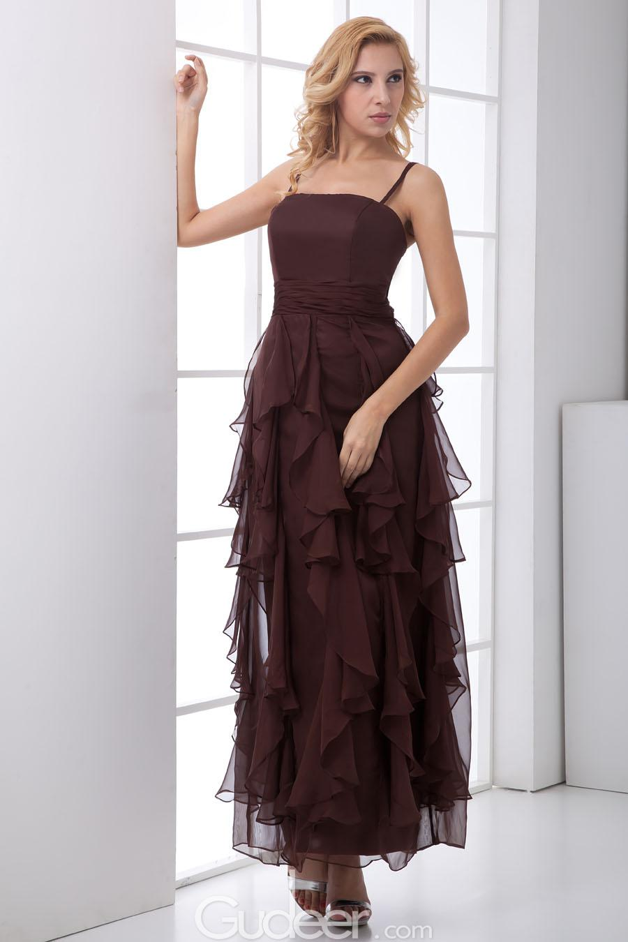 Chocolate brown bridesmaid dress ankle length fashion dresses chocolate brown bridesmaid dress ankle length ombrellifo Choice Image