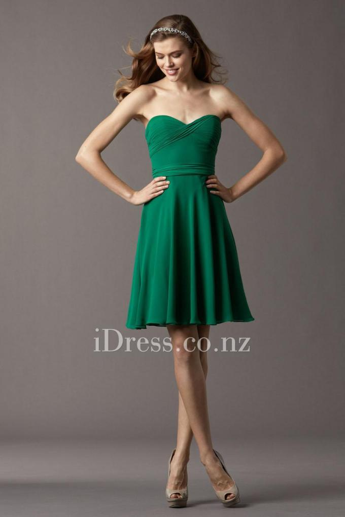 1strapless-sweetheart-a-line-emerald-knee-length-bridesmaid-dress-1