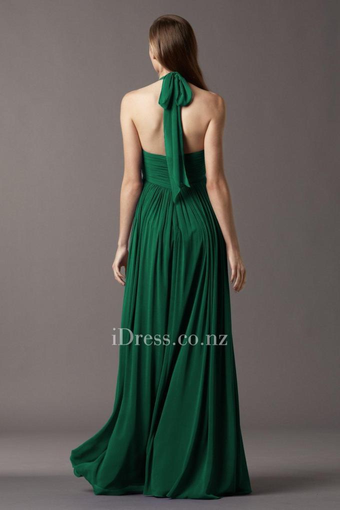 2shirred-chiffon-halter-emerald-bridesmaid-dress-4