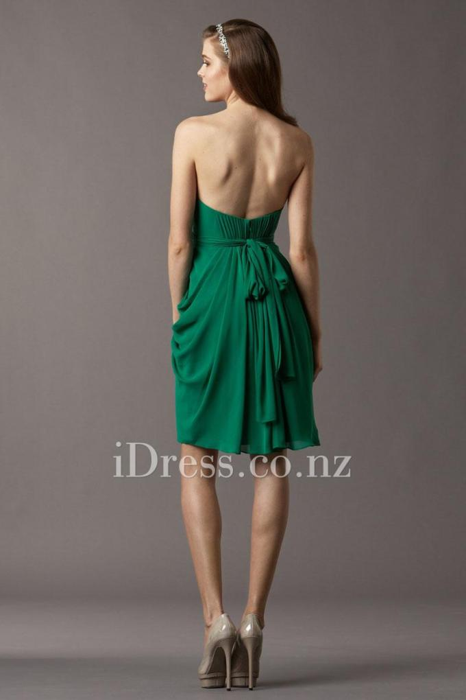 3knee-length-emerald-chiffon-shirred-bridesmaid-dress-2