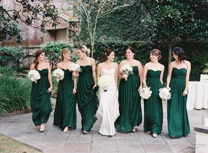 emerald-green-strapless-elegant-bridesmaid-dress-5