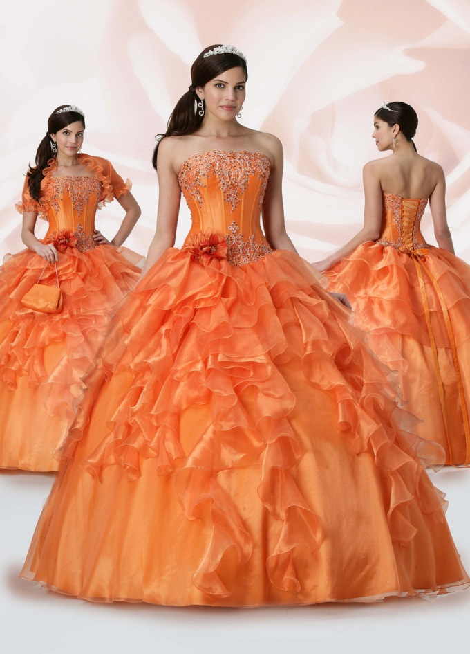 orange-wedding-ball-gown-dress
