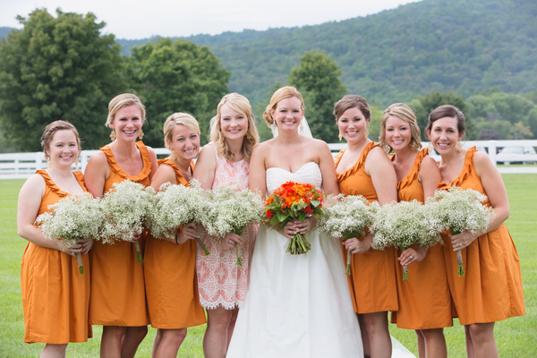 southern-wedding-orange-bridesmaid-dresses1