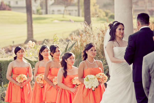 wedding-color-orange-bridesmaids-dresses-memoire_-studio