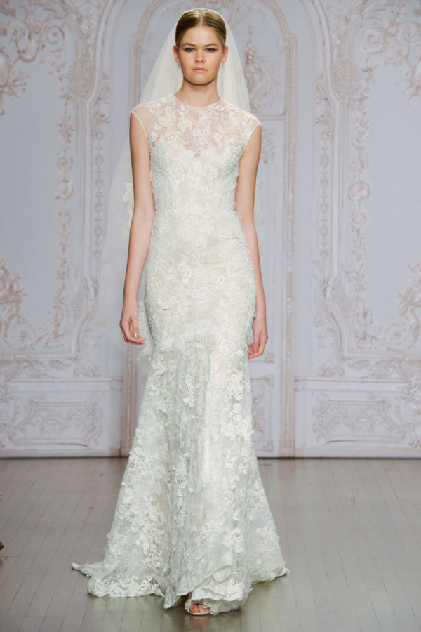 4Monique-Lhuillier-Fall-2015-sheath-wedding-dress-with-a-high-illusion-neckline-600x900