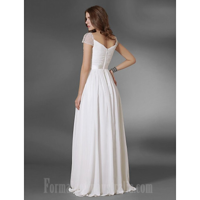 219 Prom Gowns Military Ball Australia Formal Evening Dress White Plus Sizes Dresses Petite A-line Princess V-neck Off-the-shoulder Long Floor-length Chiffon_1-800x800