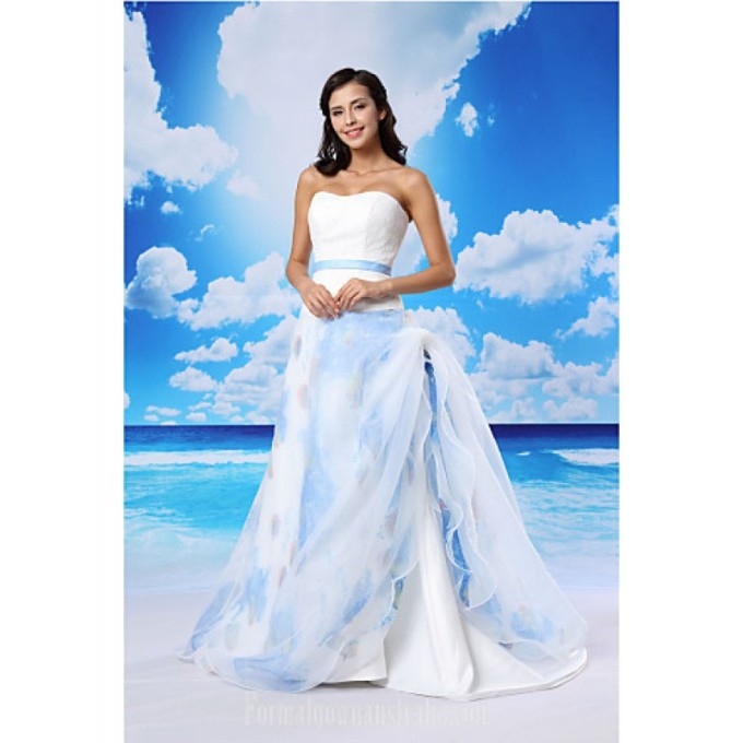 2755A-line Australia Formal Evening Dress White Court Train Sweetheart Lace Organza Satin-800x800.jpg