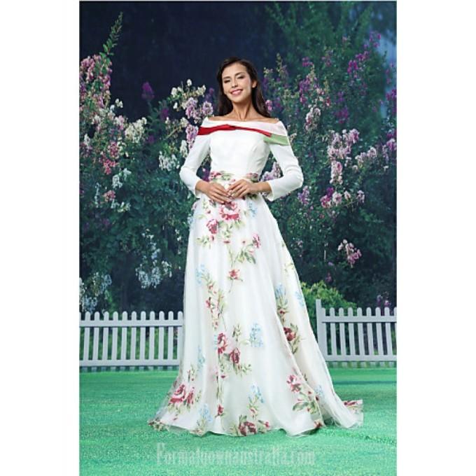 2756A-line Australia Formal Evening Dress White Long Floor-length Off-the-shoulder Organza Satin-800x800.jpg