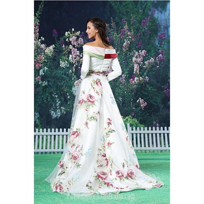 2756A-line Australia Formal Evening Dress White Long Floor-length Off-the-shoulder Organza Satin_3-800x800.jpg