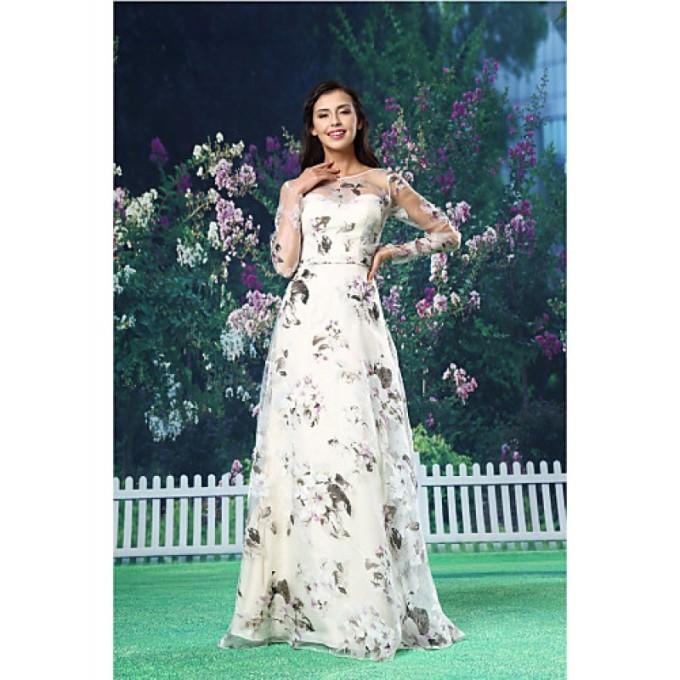 982A-line Australia Formal Evening Dress White Long Floor-length Jewel Organza Satin-800x800