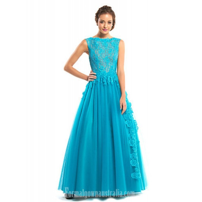 2926 Australia Formal Evening Dress Jade A-line Bateau Long Floor-length Lace Dress Tulle-800x800.jpg