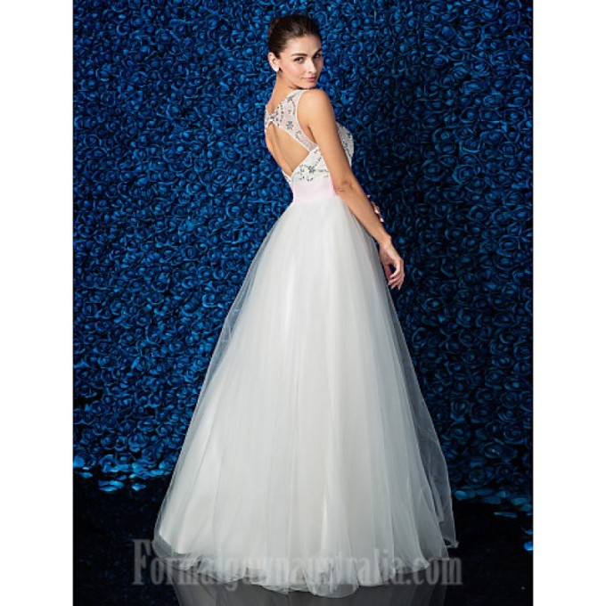 433 Australia Formal Evening Dress Ivory Plus Sizes Dresses Petite Ball Gown Jewel Long Floor-length Lace Dress Tulle_5-800x800