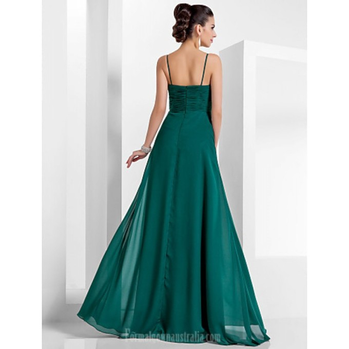 715 Australia Formal Evening Dress Military Ball Dress Dark Green Plus Sizes Dresses Petite A-line Princess Sweetheart Spaghetti Straps Long Floor-length Chiffon_3-800x800