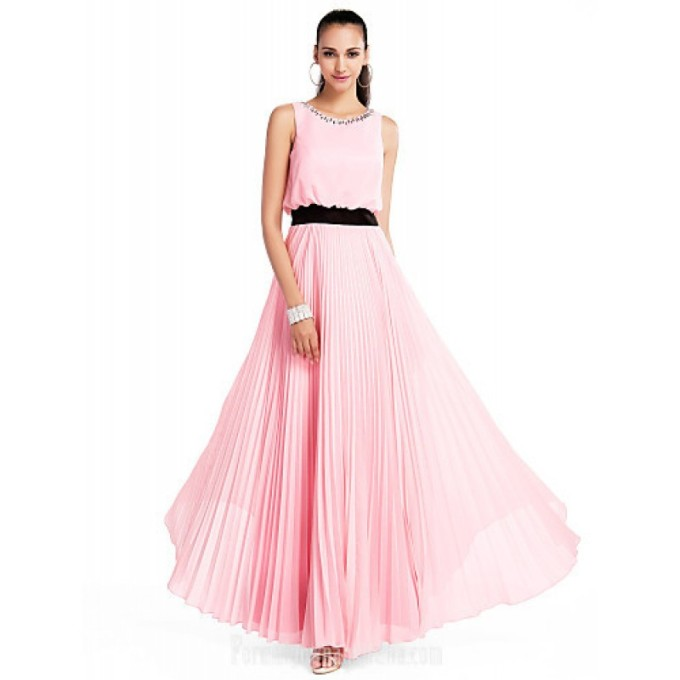 1854 Australia Formal Evening Dress Prom Gowns Military Ball Wedding Party Dress Candy Pink Plus Sizes Dresses Petite A-line Princess Jewel Long Floor-length Chiffon-800x800