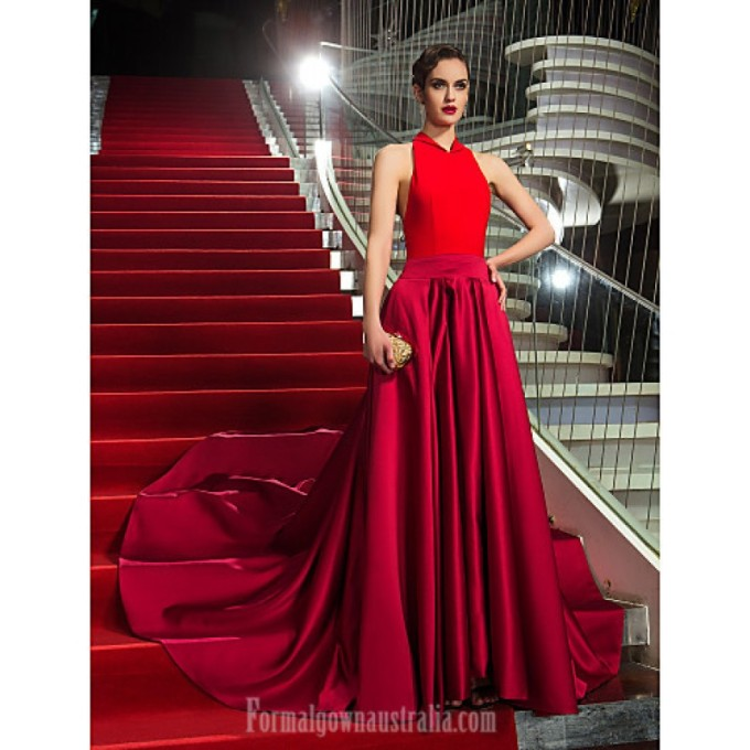 2407 Military Ball Australia Formal Evening Dress Multi-color Plus Sizes Dresses Petite A-line Halter Asymmetrical Jersey Satin-800x800