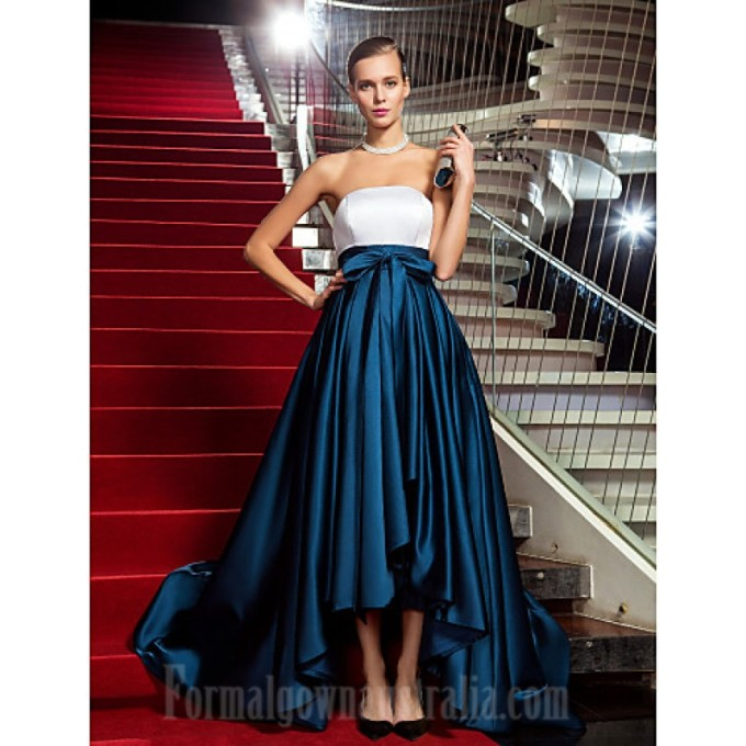285 Military Ball Australia Formal Evening Dress Multi-color Plus Sizes Dresses Petite A-line Princess Strapless Asymmetrical Satin-800x800