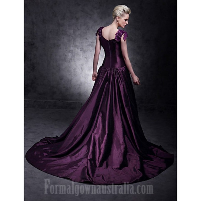 319 Australia Formal Evening Dress Quinceanera Sweet 16 Dress Grape Plus Sizes Dresses Petite Ball Gown A-line Princess V-neck Court Train Taffeta_4-800x800.jpg