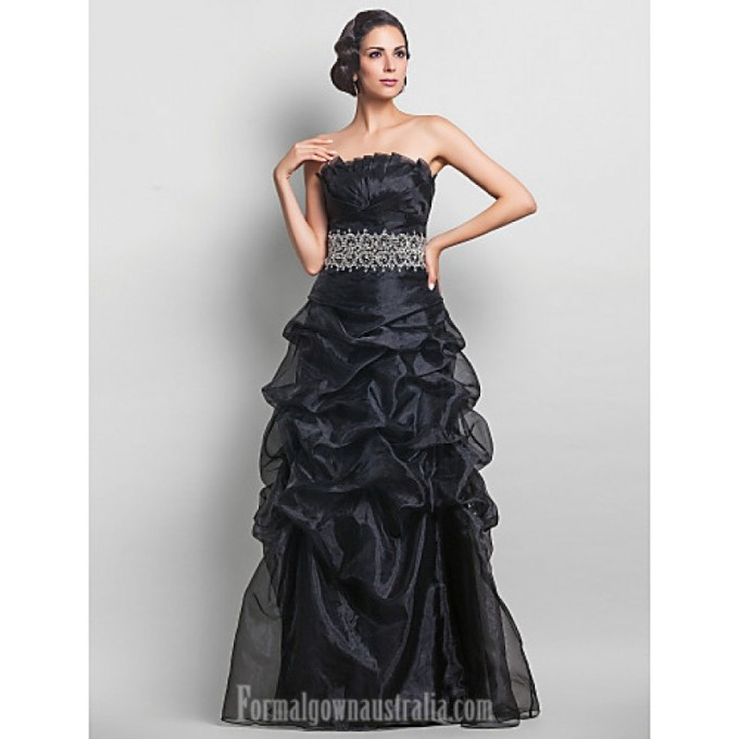 2894Australia Formal Evening Dress Prom Gowns Military Ball Dress Black Plus Sizes Dresses Petite A-line Strapless Long Floor-length Organza-800x800.jpg