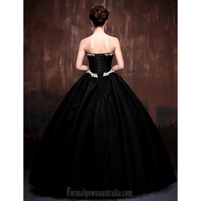 510Australia Formal Evening Dress Black Daffodil Petite Ball Gown Sweetheart Long Floor-length Lace Dress Satin Tulle Polyester_5-800x800.jpg
