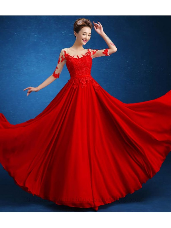 Floor-Length Beaded Open Back Lace-up Party Dresses Half Sleeves Embroidery Scoop Long Prom Evening Gowns-600x800.jpg