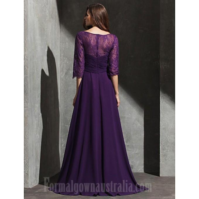 388 Australia Formal Evening Dress Grape Plus Sizes Dresses Petite A-line Sweetheart Long Floor-length Lace Dress Georgette_6-800x800