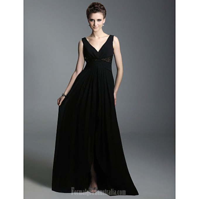 690 Australia Formal Evening Dress Military Ball Dress Black Plus Sizes Dresses Petite A-line Princess V-neck Straps Long Floor-length Chiffon-800x800.jpg