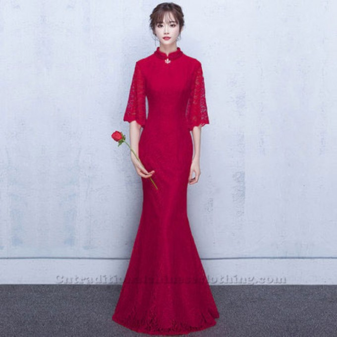 2-Red-Long-Lace-Half-Sleeves-Trsditional-Chinese-Dress-800x800