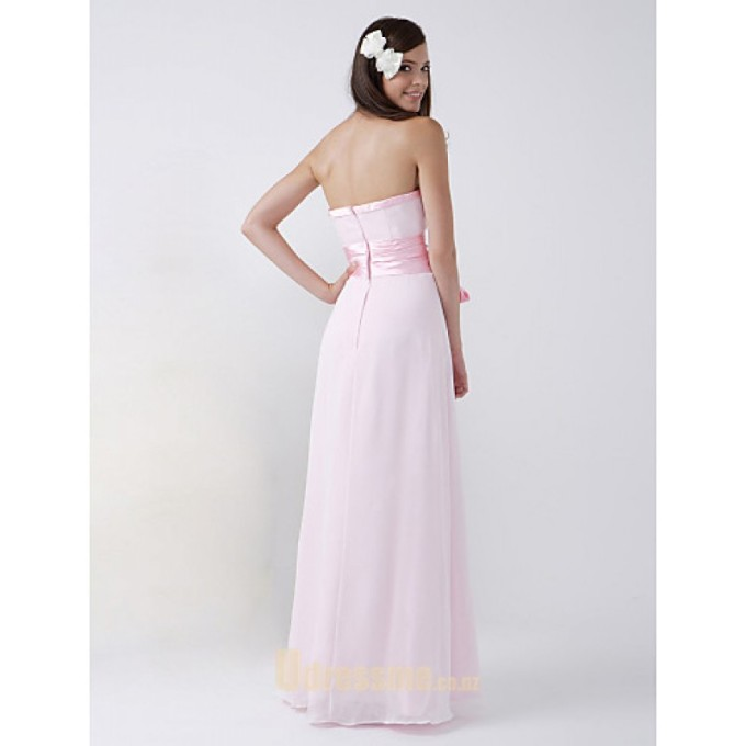 2 Sexy Floor-Length Pink Chiffon Evening Dress Halther Neck Sleeveless Prom Dress -800x800
