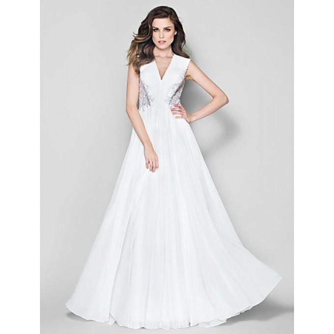 2127 Australia Formal Evening Dress Ivory A-line V-neck Long Floor-length Chiffon-800x800.jpg
