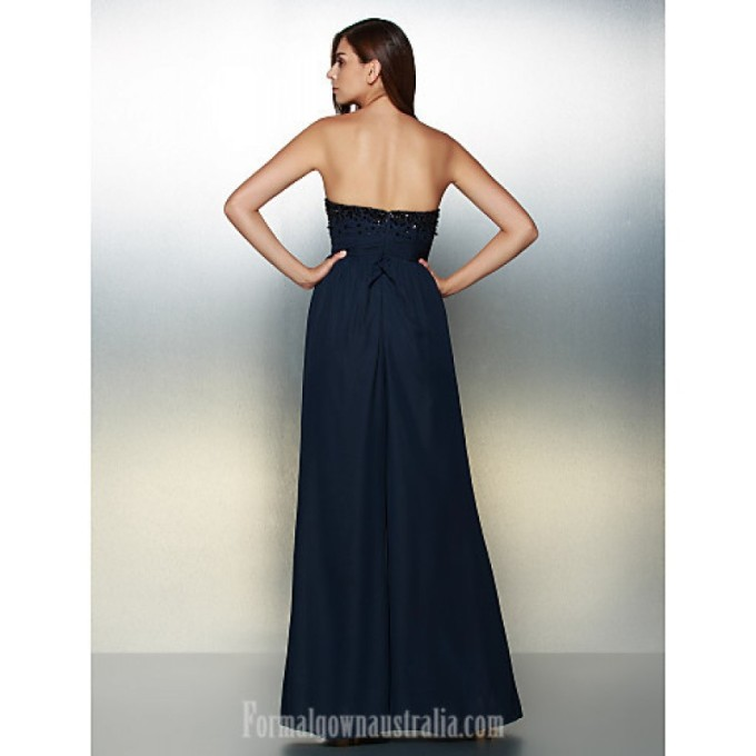 2969 Australia Formal Evening Dress Dark Navy A-line Strapless Long Floor-length Chiffon_4-800x800