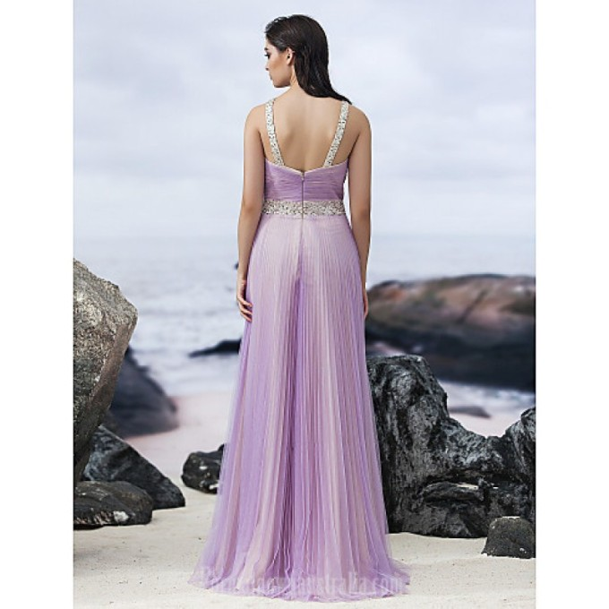3200 Australia Formal Evening Dress Lavender A-line Halter Long Floor-length Chiffon_6-800x800