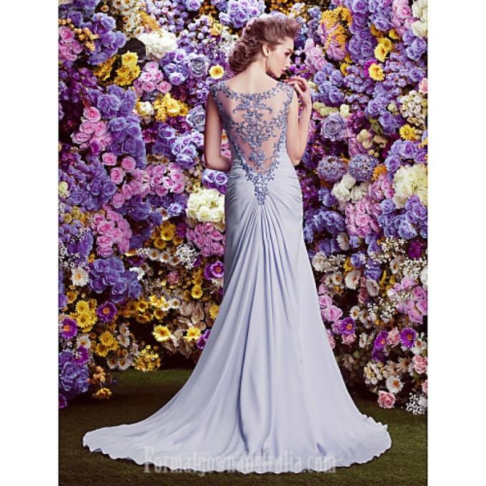 4128 Australia Formal Evening Dress Lavender A-line Bateau Court Train Satin Chiffon_3-800x800.jpg