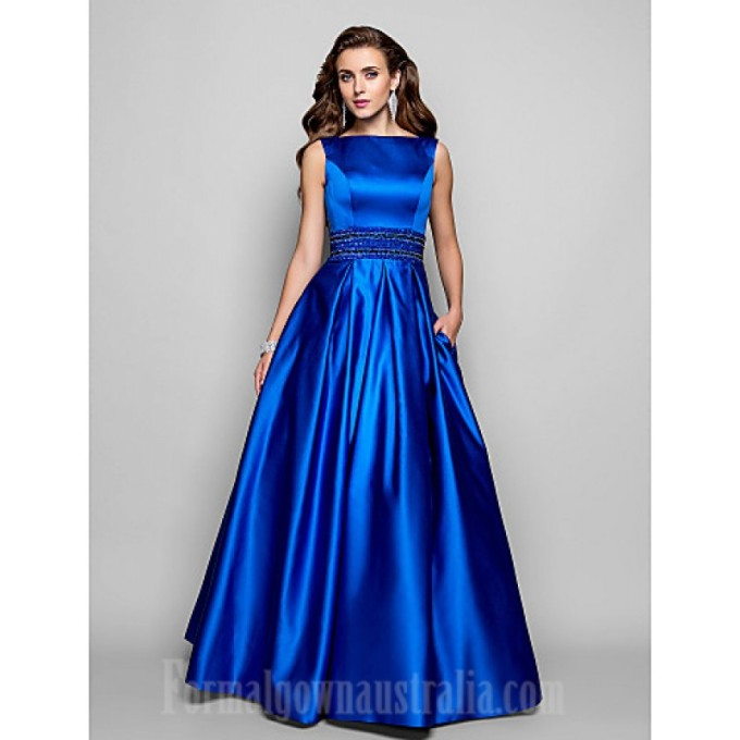 117 Australia Formal Evening Dress Prom Gowns Military Ball Dress Royal Blue Plus Sizes Dresses Petite Ball Gown A-line Bateau Long Floor-length Satin-800x800
