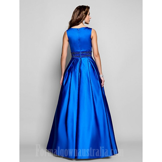 117 Australia Formal Evening Dress Prom Gowns Military Ball Dress Royal Blue Plus Sizes Dresses Petite Ball Gown A-line Bateau Long Floor-length Satin_3-800x800