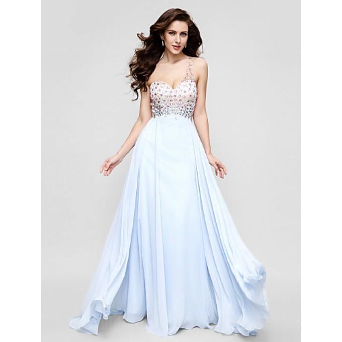 141 Australia Formal Evening Dress Sky Blue Plus Sizes Dresses Petite A-line Sexy One Shoulder Long Floor-length Chiffon-800x800