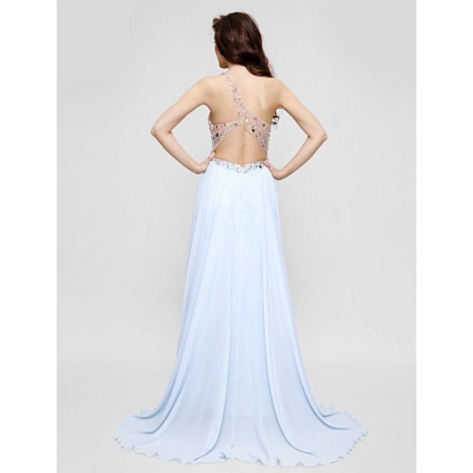 141 Australia Formal Evening Dress Sky Blue Plus Sizes Dresses Petite A-line Sexy One Shoulder Long Floor-length Chiffon_4-800x800