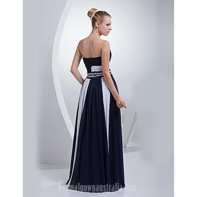 3321Australia Formal Evening Dress Ink Blue A-line Sweetheart Long Floor-length Chiffon_2-800x800