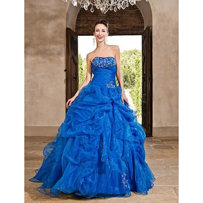 957 Prom Gowns Australia Formal Evening Dress Quinceanera Sweet 16 Dress Ocean Blue Plus Sizes Dresses Petite Princess A-line Ball Gown Strapless Long Floor-length-800x800
