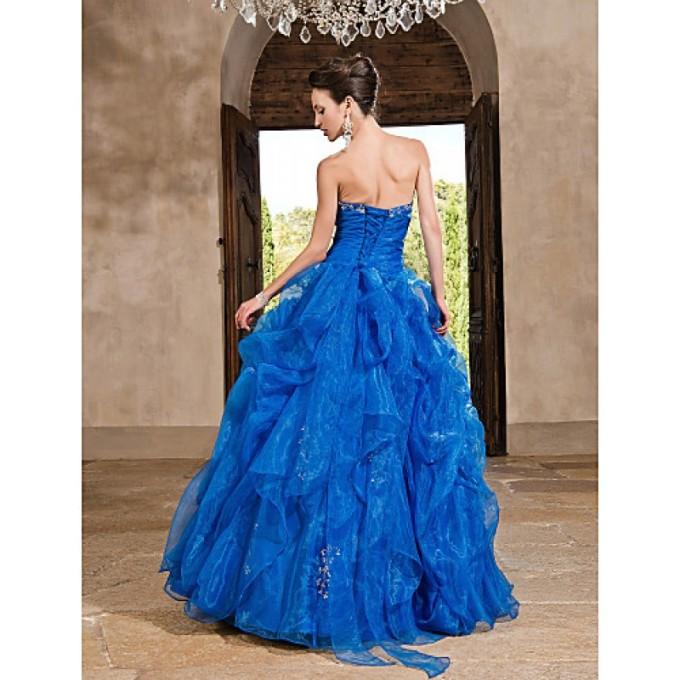 957 Prom Gowns Australia Formal Evening Dress Quinceanera Sweet 16 Dress Ocean Blue Plus Sizes Dresses Petite Princess A-line Ball Gown Strapless Long Floor-length_3-800x8