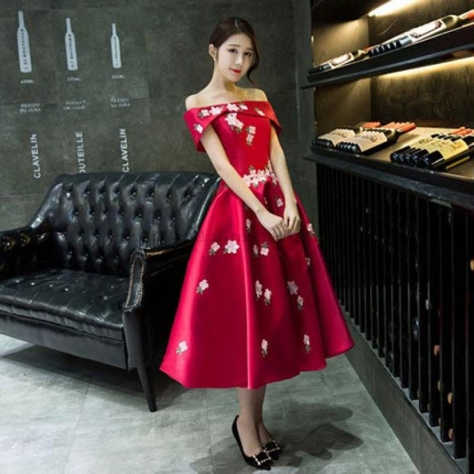 2-New-Tea-Length-Red-Satin-Embroidery-Evening-Dress-Lace-Up-Off-The-Shoulder-Formal-Dress--800x800