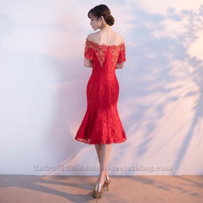 3-A-Ling-Knee-Length-Red-LaceShort-Sleeves-Traditional-Dress-800x800